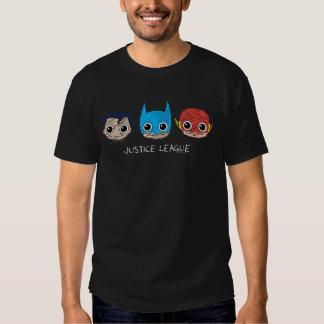 Chibi Justice League Heads Sketch Tee Shirt