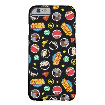 Chibi Justice League Heroes and Logos Pattern Barely There iPhone 6 Case