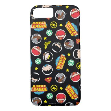 Chibi Justice League Heroes and Logos Pattern iPhone 8/7 Case