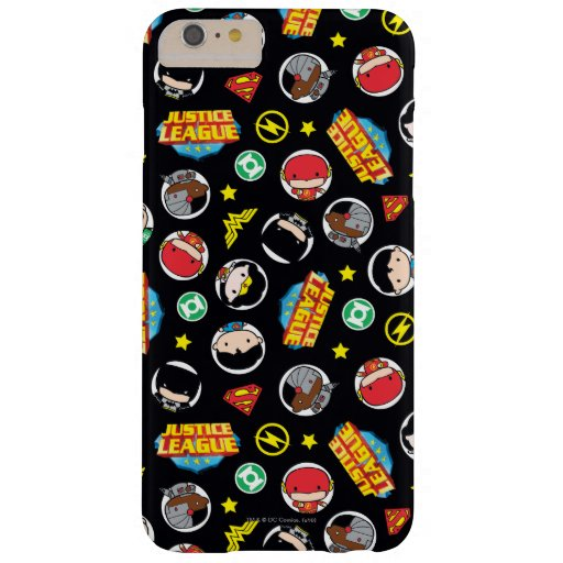 Chibi Justice League Heroes and Logos Pattern Barely There iPhone 6 Plus Case