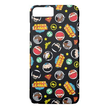 Chibi Justice League Heroes and Logos Pattern iPhone 8 Plus/7 Plus Case
