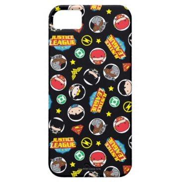 Chibi Justice League Heroes and Logos Pattern iPhone SE/5/5s Case