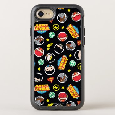 Chibi Justice League Heroes and Logos Pattern OtterBox Symmetry iPhone 8/7 Case