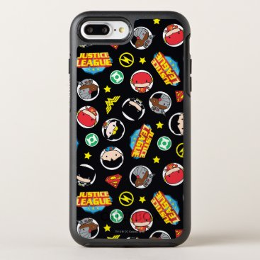 Chibi Justice League Heroes and Logos Pattern OtterBox Symmetry iPhone 8 Plus/7 Plus Case