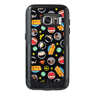 Chibi Justice League Heroes and Logos Pattern OtterBox Samsung Galaxy S7 Case