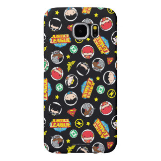 Chibi Justice League Heroes and Logos Pattern Samsung Galaxy S6 Case