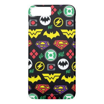Chibi Justice League Logo Pattern iPhone 8 Plus/7 Plus Case