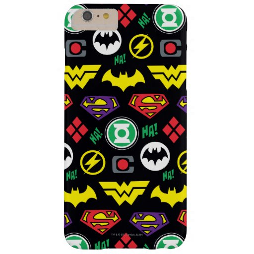 Chibi Justice League Logo Pattern Barely There iPhone 6 Plus Case