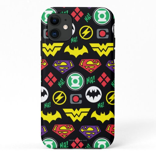 Chibi Justice League Logo Pattern iPhone 11 Case