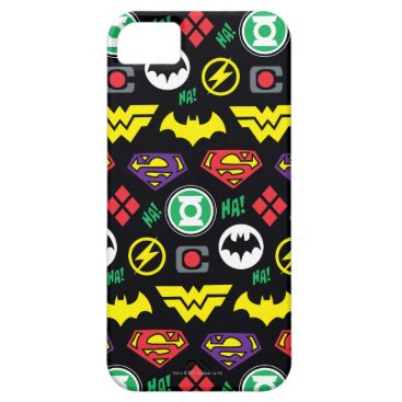 Chibi Justice League Logo Pattern iPhone SE/5/5s Case