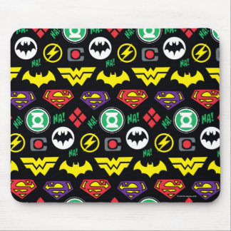 Chibi Justice League Logo Pattern Mouse Pad