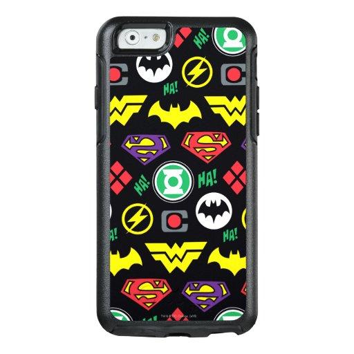 Chibi Justice League Logo Pattern OtterBox iPhone 6/6s Case