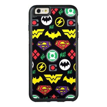 Chibi Justice League Logo Pattern OtterBox iPhone 6/6s Plus Case