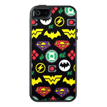 Chibi Justice League Logo Pattern OtterBox iPhone 5/5s/SE Case