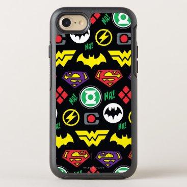 Chibi Justice League Logo Pattern OtterBox Symmetry iPhone 8/7 Case