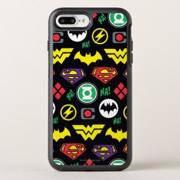 Chibi Justice League Logo Pattern OtterBox Symmetry iPhone 8 Plus/7 Plus Case