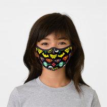 Chibi Justice League Logo Pattern Premium Face Mask