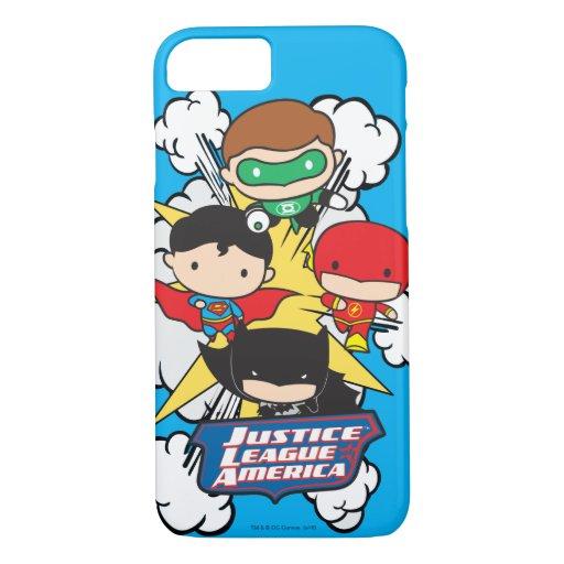 Chibi Justice League of America Explosion iPhone 8/7 Case