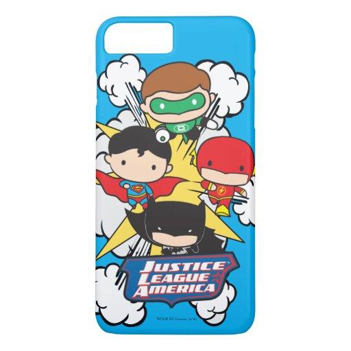 Chibi Justice League of America Explosion iPhone 8 Plus/7 Plus Case