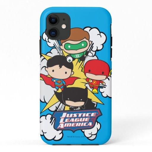 Chibi Justice League of America Explosion iPhone 11 Case