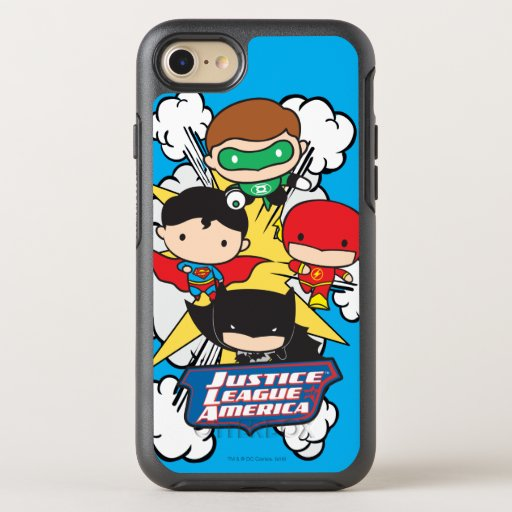 Chibi Justice League of America Explosion OtterBox Symmetry iPhone SE/8/7 Case