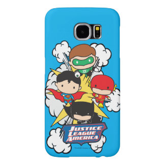 Chibi Justice League of America Explosion Samsung Galaxy S6 Case