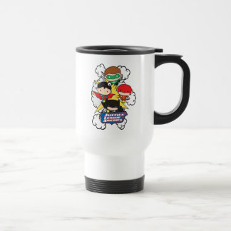 Chibi Justice League of America Explosion Travel Mug