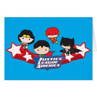 Chibi Justice League of America Stars Card