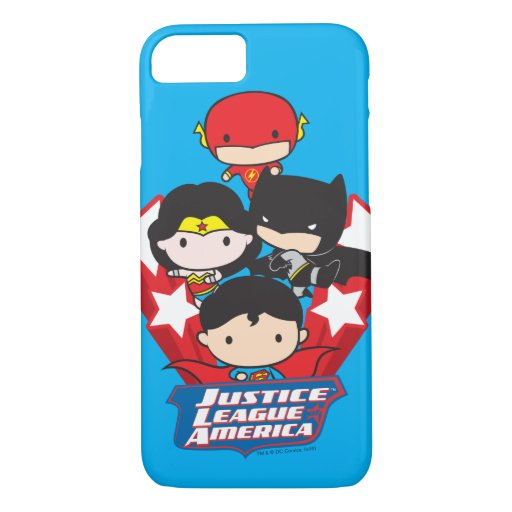 Chibi Justice League of America Stars iPhone 8/7 Case