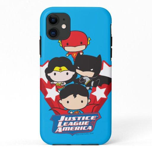 Chibi Justice League of America Stars iPhone 11 Case