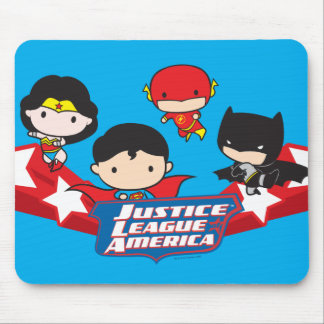 Chibi Justice League of America Stars Mouse Pad