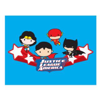 Chibi Justice League of America Stars Postcard