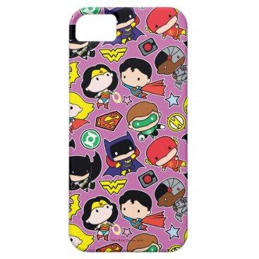 Chibi Justice League Pattern on Purple iPhone SE/5/5s Case