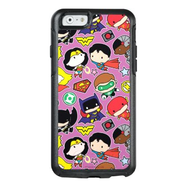 Chibi Justice League Pattern on Purple OtterBox iPhone 6/6s Case