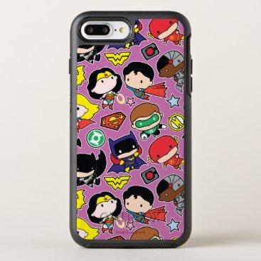 Chibi Justice League Pattern on Purple OtterBox Symmetry iPhone 8 Plus/7 Plus Case