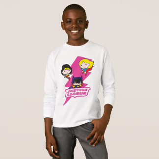Chibi Justice League Pink Lightning T-Shirt