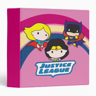 Chibi Justice League Rainbow Binder