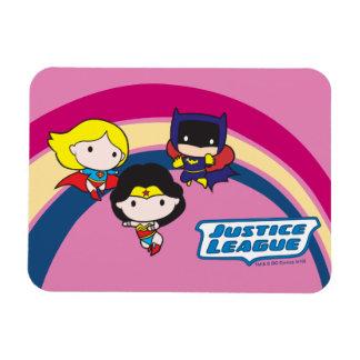 Chibi Justice League Rainbow Magnet