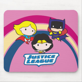 Chibi Justice League Rainbow Mouse Pad