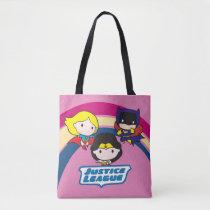 chibi supergirl, chibi wonder woman, chibi batgirl, justice league, rainbow, logo, super hero, dc comics, [[missing key: type_manualww_tot]] with custom graphic design