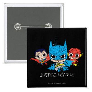 Chibi Justice League Sketch Button