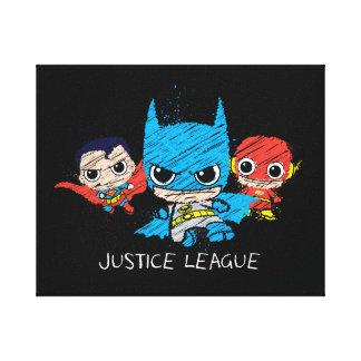 Chibi Justice League Sketch Stretched Canvas Prints