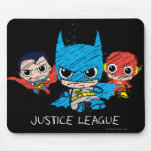 Chibi Justice League Sketch Mouse Pad