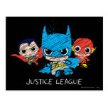 Chibi Justice League Sketch Post Card