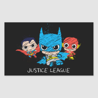 Chibi Justice League Sketch Rectangular Sticker