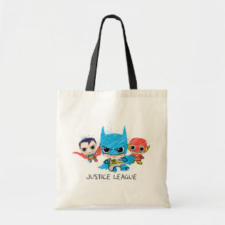 Chibi Justice League Sketch Tote Bag
