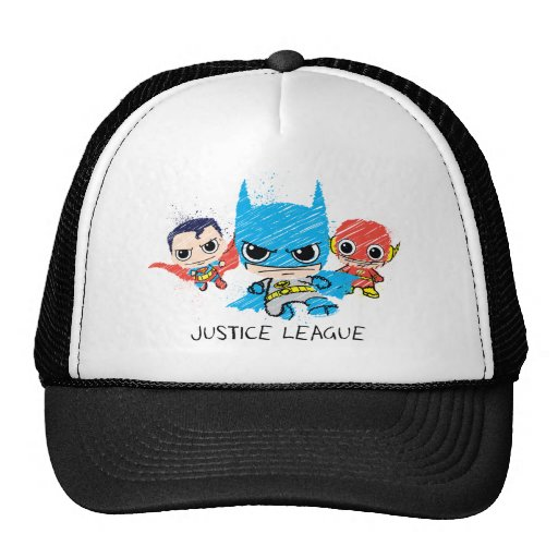 Chibi Justice League Sketch Trucker Hats
