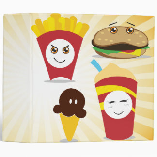 chibi kawaii fast food value meal binder