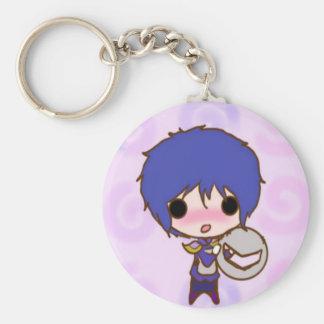 Chibi knight with no mask basic round button keychain