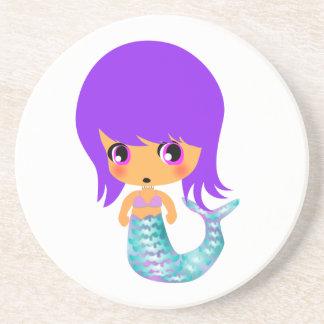 chibi magical mermaid 1 beverage coaster